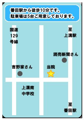 はりきゅう中野屋地図
